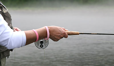 A Fly Rod and Pink Bracelet